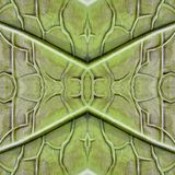 Abstract design with stone and sand material in green and gray colors, background and texture. Backdrop for colors related ads, geometric pattern with reflection stock illustration