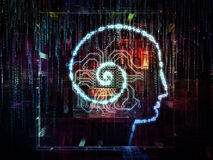 Digital Life of Consciousness Royalty Free Stock Images