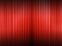 A backdrop curtains. Red curtain of a classical theater Royalty Free Stock Photography