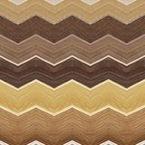 Abstract zig zag design in wood material with various colors, background and texture. Backdrop for design and decoration ads with wood texture, architecture and royalty free illustration