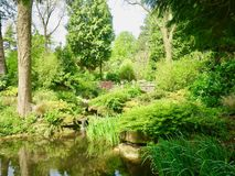 Backdrop of the garden. Dewstow Gardens Caerwent Caldicot Wales united kingdom royalty free stock photography