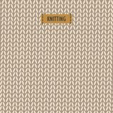 Backdrop with knitting vector illustration