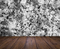 Backdrop marble wall and wood slabs arranged in perspective text Royalty Free Stock Photo