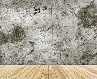 Backdrop marble wall and wood slabs arranged in perspective texture background. Stock Photos
