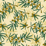 Backdrop with olive branch stock illustration