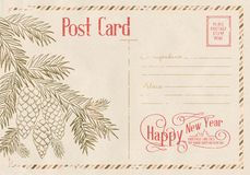 Backdrop of postal card. Stock Images