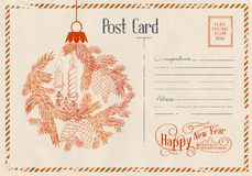 Backdrop of postal card. Royalty Free Stock Photography