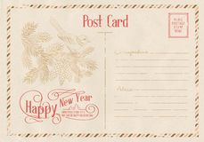 Backdrop of postal card. Royalty Free Stock Images
