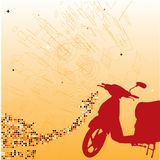 Backdrop with scooter. Royalty Free Stock Photo