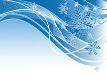 Backdrop with snowflakes Stock Images