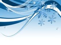 Backdrop with snowflakes Stock Photo