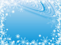 Backdrop with snowflakes Royalty Free Stock Images