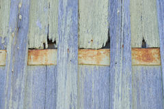 Backdrop Timber panels and rusty metal Royalty Free Stock Image