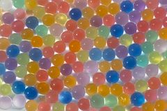 Bright multi-colored balls background happy birthday. Backdrop toys ballpoint greetings card hollyday space for inscription sphere Stock Photos