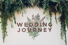 Backdrop for wedding. Beautiful backdrop flowers for wedding ceremony. Wedding journey Royalty Free Stock Photos