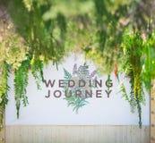 Backdrop for wedding. Beautiful backdrop flowers for wedding ceremony. Wedding journey Stock Images