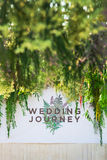 Backdrop for wedding. Royalty Free Stock Images