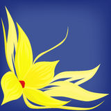 Backdrop with yellow flower Royalty Free Stock Photo