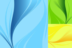 Backdrops set. Abstract backdrops in three colors variations vector illustration