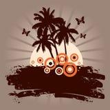 Backdround del verano con las palmas Stock de ilustración