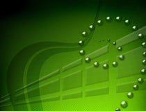 Backdround verde de la velocidad Imagen de archivo