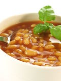 Backed beans, close up Royalty Free Stock Images