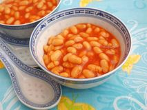 Backed beans. With a sauce of tomatoes stock images