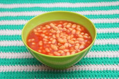 Backed beans. Some backed beans with a sauce of tomatoes royalty free stock image
