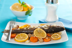 Backed seabass Royalty Free Stock Photography