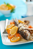 Backed seabass Stock Images