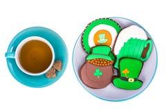 Backen für St- Patrick` s Tag stockfoto