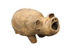Backen-Lehm Schwein auf weißem Hintergrund, Thailand Stockbild