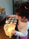 Backen muffin Arkivbild