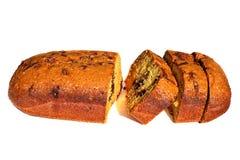 Backen Sie frisches gebackenes geschmackvolles traditionelles des selbst gemachten Schokoladennachtischs zusammen Stockbild
