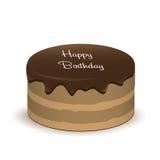 Backen Sie mit dem Wörter alles- Gute zum Geburtstagschattenweißhintergrund zusammen Lizenzfreies Stockfoto