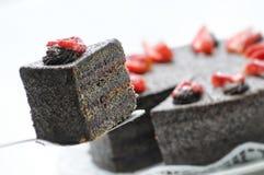 Backen Sie mit Mohn und Erdbeeren, Konditorei zusammen Lizenzfreies Stockfoto