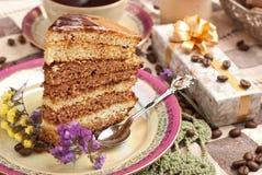 Backen Sie mit Tee oder Kaffee zusammen stockfoto