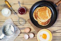 Backen Sie Pfannkuchen Höchst-Ansicht Lizenzfreie Stockbilder