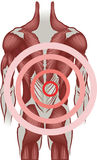 backen smärtar royaltyfri illustrationer