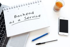 Backend als Service vektor abbildung