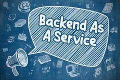Backend som en service - affärsidé Arkivbild