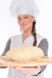 Backer with bread dough Stock Photos