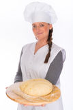Backer with bread dough Stock Photography