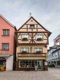 Backerei Standhartinger i Memmingen Swabia, Bayern, Tyskland arkivfoton