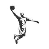 Backetball silhouette Stock Images