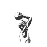 Backetball silhouette Royalty Free Stock Image