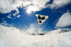 Backflip del Snowboarder Imagen de archivo