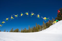 Backflip Sequence of Skier stock photos