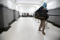 Backflow άνθρωποι Eid Fitr στην Τζακάρτα Στοκ Φωτογραφία