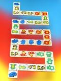 backg ζωηρόχρωμα παιχνίδια ξύλινα στοκ φωτογραφίες με δικαίωμα ελεύθερης χρήσης